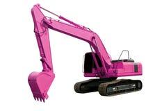 Pink excavator Stock Images