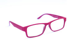 Pink Eye Glasses Isolated on White shallow depth of field and so Royalty Free Stock Photography