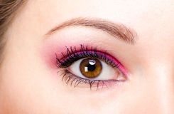 Pink eye make-up Royalty Free Stock Image