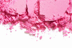 Pink eye shadow border crushed on white Royalty Free Stock Photography