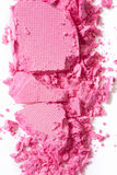Pink eye shadow crushed on white royalty free stock photography