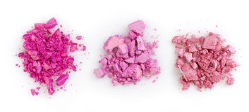 Pink eye shadows Royalty Free Stock Image
