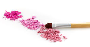 Pink eye shadows Royalty Free Stock Photography