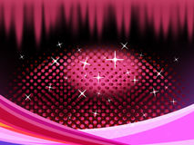 Pink Eye Shape Background Means Pupil Eyelashes And Twinkling. Pink Eye Shape Background Meaning Pupil Eyelashes And Twinkling Stock Photography