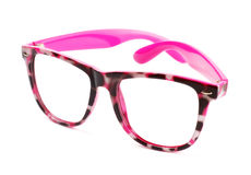 Pink eyeglasses Royalty Free Stock Images