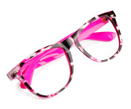 Pink eyeglasses Royalty Free Stock Photos