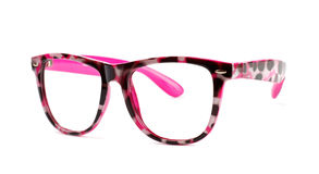 Pink eyeglasses Stock Photography