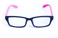 Pink Eyeglasses Isolated Stock Images