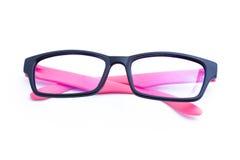 Pink Eyeglasses Isolated Stock Photos