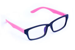 Pink Eyeglasses Isolated Royalty Free Stock Images