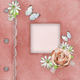 pink för albumräkningsfoto Arkivbild