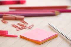 pink för anmärkningspapper vektor illustrationer
