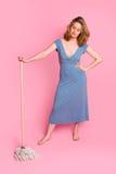 pink för bakgrundscinderella mop royaltyfri foto
