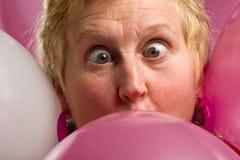 pink för ballongframsidadeltagare Arkivbild