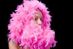 pink för fjäderarkiveringslady Fotografering för Bildbyråer