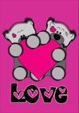 pink för håll för björngröngölinghjärta som Arkivbilder