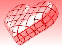 pink för hjärta 3d Arkivbild