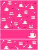 pink för inbjudan för cakekaffekopp Royaltyfria Bilder