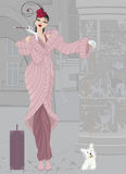 pink för flicka för laghundpäls Royaltyfri Foto