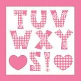 Pink fabric alphabet. Royalty Free Stock Image