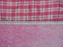 Pink fabric in a cage Royalty Free Stock Photo