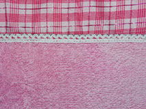 Pink fabric in a cage Royalty Free Stock Image