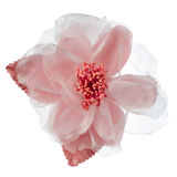 Pink fabric flower Royalty Free Stock Images
