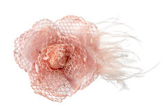Pink fabric flower Stock Photography