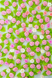 Pink fabric flower Stock Images