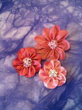 Pink  fabric flower Royalty Free Stock Photography