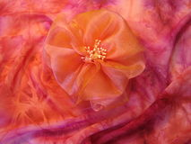 Pink  fabric flower Stock Image