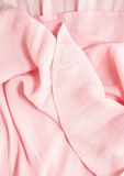 Pink fabric folds Royalty Free Stock Photography