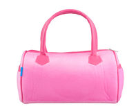 Pink fabric handbag Stock Photography