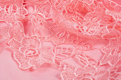 Pink fabric with ornament Royalty Free Stock Photo