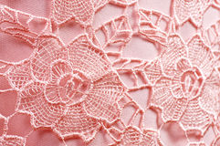 Pink fabric with ornament Royalty Free Stock Photography