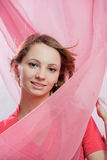 Pink fabric Stock Images
