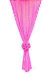 Pink fabric ribbon. For ceremony isolated on white with clipping path Stock Images
