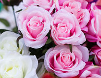 Pink fabric roses Stock Image