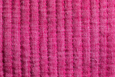 Pink fabric sewn lengthwise Stock Photography