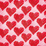 Pink fabric with small hearts Royalty Free Stock Image