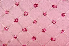 Pink fabric texture Stock Images
