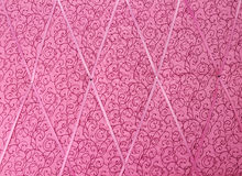 Pink fabric texture background Royalty Free Stock Photos
