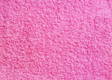Pink fabric texture. Pink synthetic wool background macro Royalty Free Stock Photo