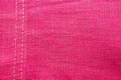 Pink fabric texture Stock Photos