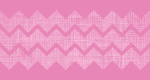 Pink fabric textured chevron stripes horizontal seamless pattern background Royalty Free Stock Images