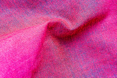 Pink fabric THAI silk Royalty Free Stock Photo