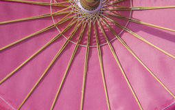 Pink fabric umbrella pattern Stock Photography