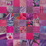 PINK fabrics patchwork Stock Image