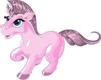 Pink fabulous unicorn royalty free stock images