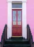 Pink facade door Royalty Free Stock Photos